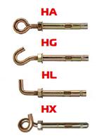 Анкерный болт с крюком HG
