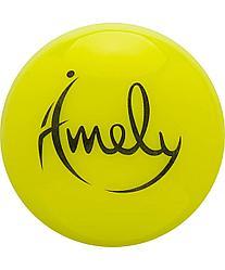 Мяч для художественной гимнастики AGB-301 15 см, желтый Amely