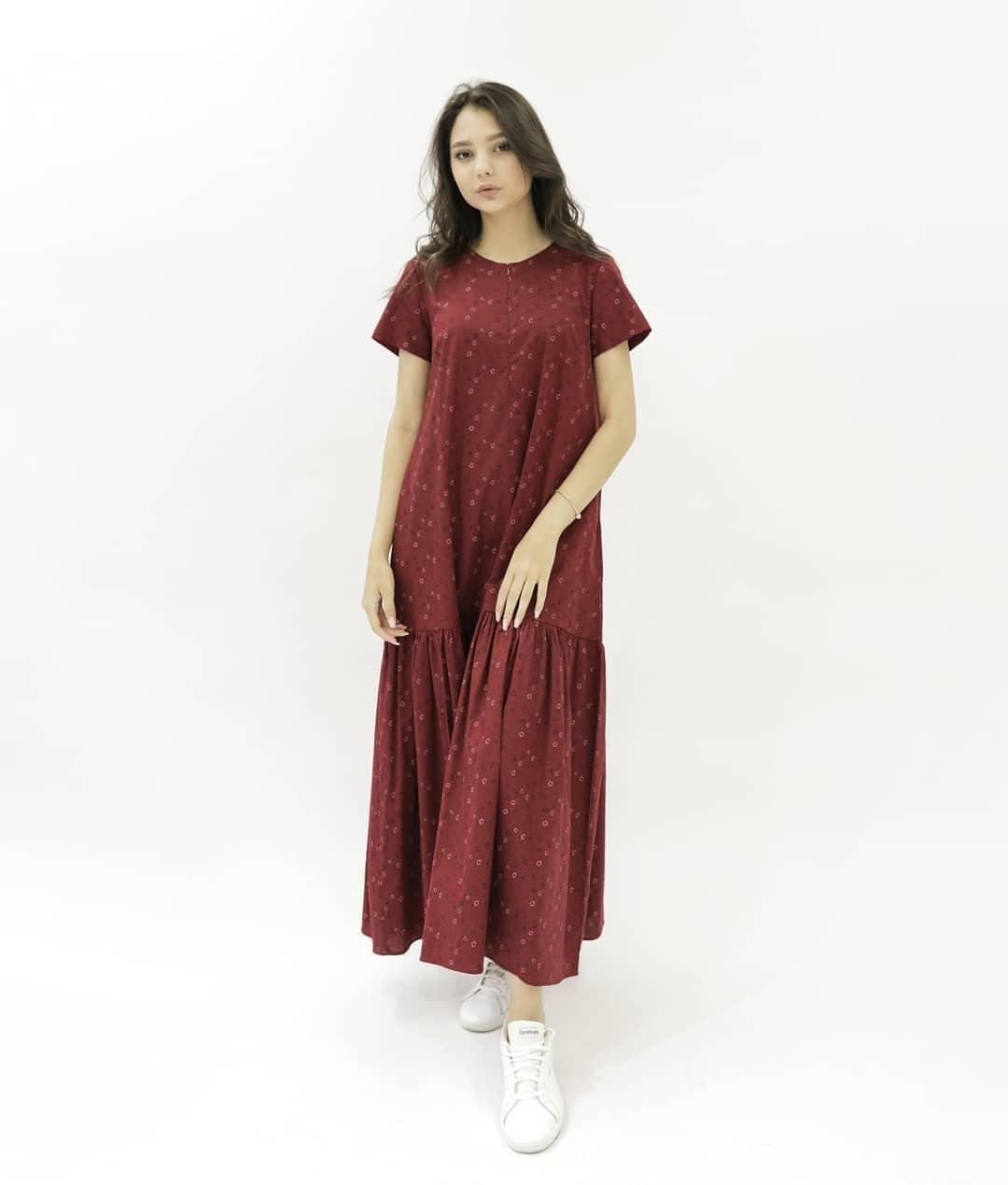 Платье Hanym (красное в горошек, 2021)