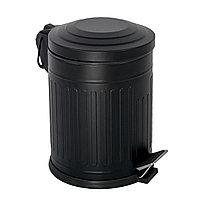 Урна винтажная для мусора с педалью черная 5л Турция