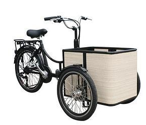 Мини грузовой велосипед M-CB04E (с электромотором)