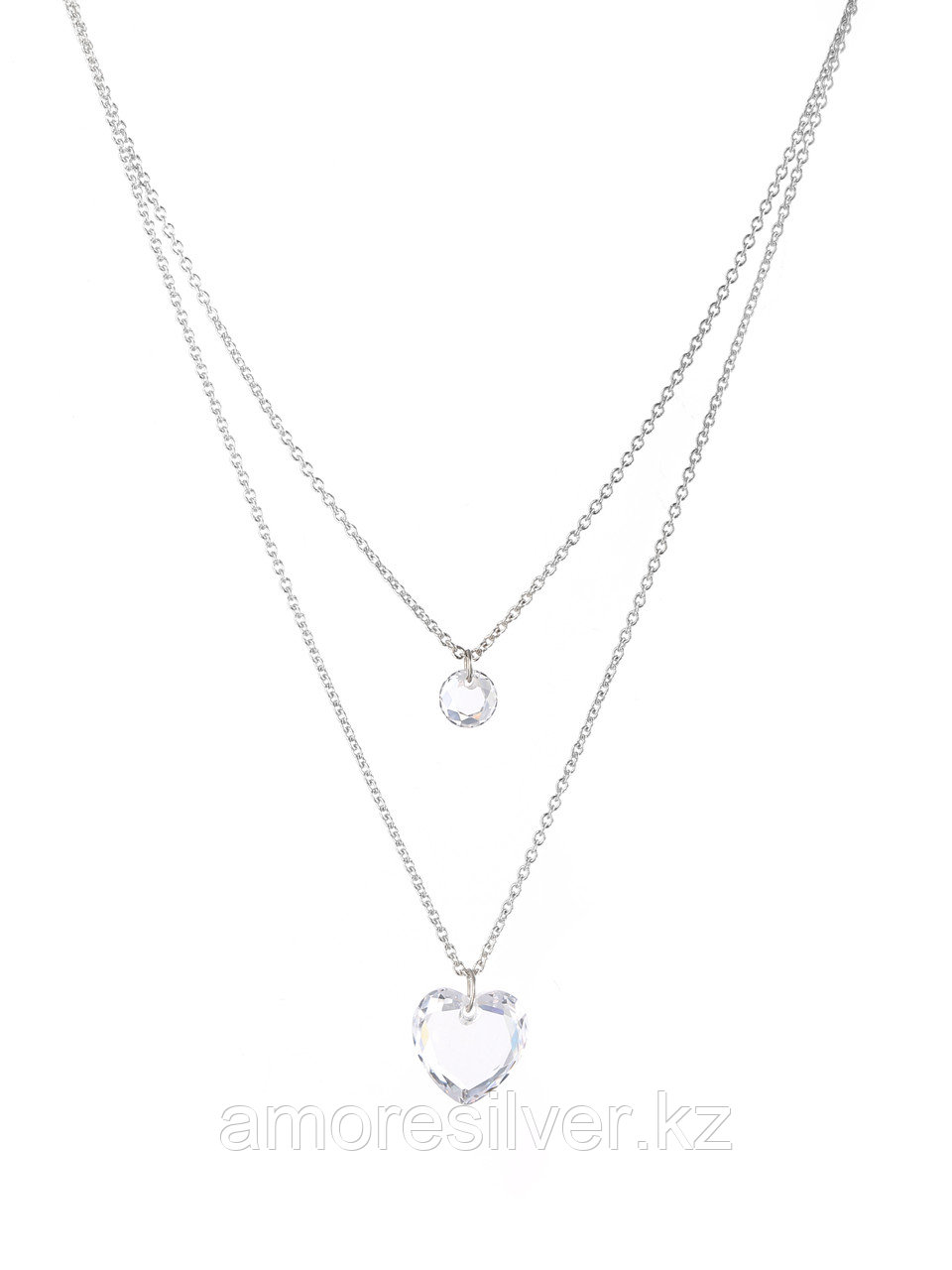 Колье Адамант серебро с родием, фианит Ср925Р-847103040Ф1 размеры - 40