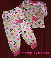 Пижама для девочек, размеры 1, 2 года