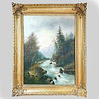 «Горная река» Адольф Кауфманн (1848-1916) Австрия. II половина XIX века Холст, масло
