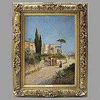«Прогулка» Karl Theodor Wagner (1856-1921) Австрия. II половина XIX века Холст, масло.