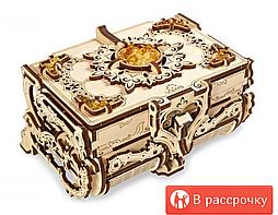 Конструктор 3D-пазл Ugears  Янтарная шкатулка 189 деталей