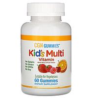 California Gold Nutrition, Поливитамины для детей в жевательных таблетках, без желатина, с ягодным и фруктовым