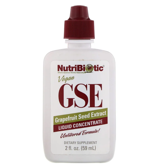 NutriBiotic, веганский экстракт семян грейпфрута GSE, жидкий концентрат, 59 мл (2 жидк. унции)