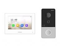 Комплект IP видеодомофона с WiFi связью HiWatch DS-D100IKWF