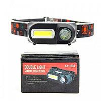 Светодиодный налобный фонарь DOUBLE LIGHT BL-KX-1804-XPE+COB