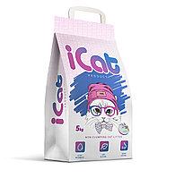 ICat впитывающий наполнитель с ароматом лаванды 5 кг