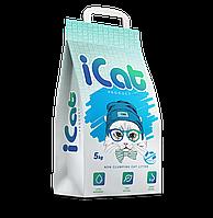 ICat впитывающий наполнитель антибактериальный 5 кг, фото 1