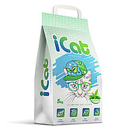 ICat комкующийся наполнитель контроль запаха с ароматом зеленого сада 5 кг