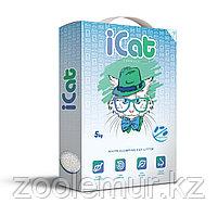 ICat комкующийся белый наполнитель антибактериальный 5 кг