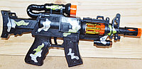 8699 Автомат SR-19M3 военный муз свет в пакете, 36*18см, фото 1