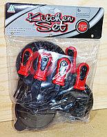 NF3907B Kitchen set посуда набор в пакете черный красный 29*21см