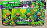 YK5993 Черепашки ниндзя 4 героя на картонке 39*23см