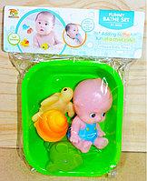 BL588-5 Funny bath set пищалки в ванночке малыш +3 морских жив в пакете 26*17см