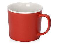 Матовая кружка Nancy 360 мл цветная снаружи, белая внутри, красный