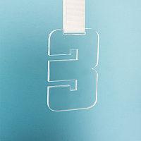 Медаль THIRD PLACE в подарочной упаковке, 65х100х5 мм, акрил, прозрачный, , 34712у