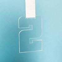 Медаль SECOND PLACE в подарочной упаковке, 65х100х5 мм, акрил, прозрачный, , 34711у