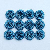Набор роз для украшения свадебных машин, D=5 см,12 шт, бирюза