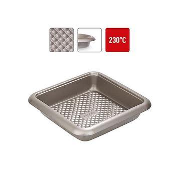 Форма квадратная, стальная, антипригарная, 24,5х24,5х5,5 см RÁDA