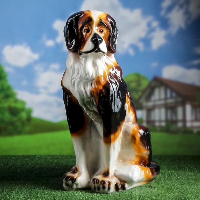 """Садовая фигура """"Собака Бетховен"""", разноцветный, 65 см"""