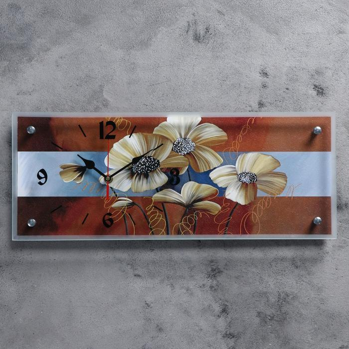 "Часы настенные, серия: Цветы, ""Цветы"", 20х50  см, микс"