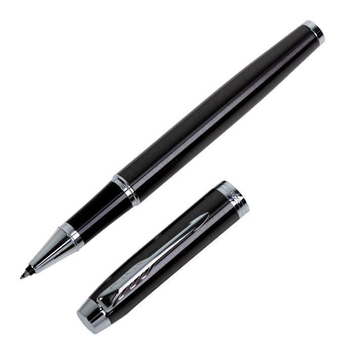 Ручка роллер Parker IM Core Dark Espresso CT F, корпус тёмно-коричневый матовый/ хром, чёрные чернила