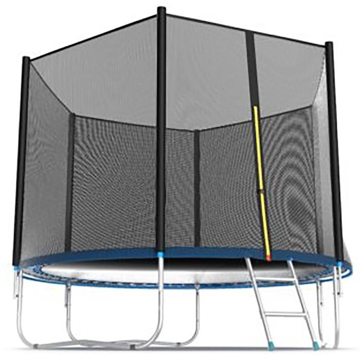 Батут Evo Jump External 10 ft, d=305 см, с внешней сеткой и лестницей, цвет синий - фото 2
