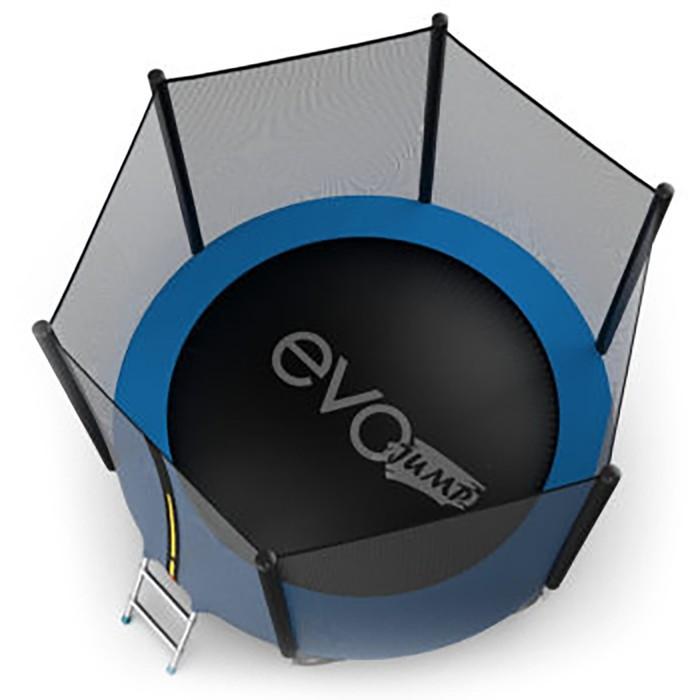 Батут Evo Jump External 10 ft, d=305 см, с внешней сеткой и лестницей, цвет синий - фото 3