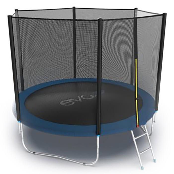 Батут Evo Jump External 10 ft, d=305 см, с внешней сеткой и лестницей, цвет синий - фото 4