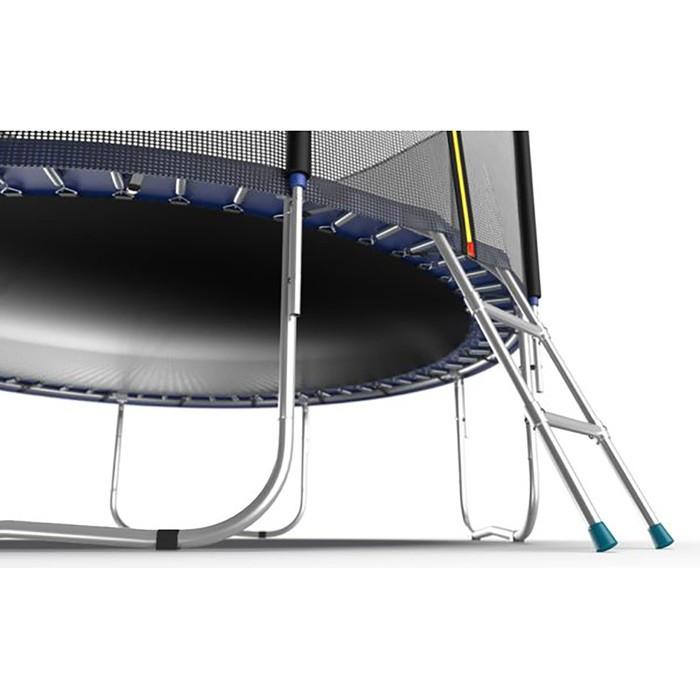 Батут Evo Jump External 10 ft, d=305 см, с внешней сеткой и лестницей, цвет синий - фото 5