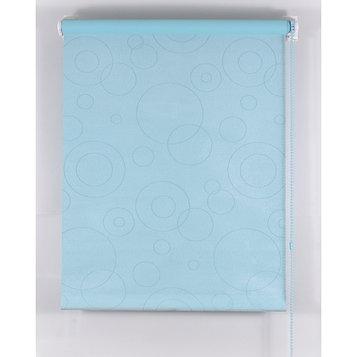 Рулонная штора Blackout, размер 200х160 см, имитация замши, цвет голубой