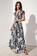 Женское летнее платье Nova Line 50128 цветы_на_черном 42р.