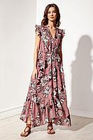 Женское летнее платье Nova Line 50128 цветы_на_розовом 42р.