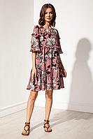 Женское летнее платье Nova Line 50129 цветы_на_розовом 42р.
