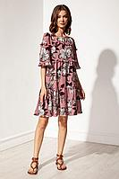 Женское летнее платье Nova Line 50129 цветы_на_розовом 46р.