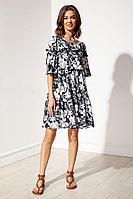 Женское летнее платье Nova Line 50129 цветы_на_черном 46р.