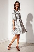 Женское летнее платье Nova Line 50129 цветы_на_белом 42р.