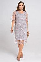 Женское летнее кружевное серое нарядное платье Панда 37980z серый 44р.