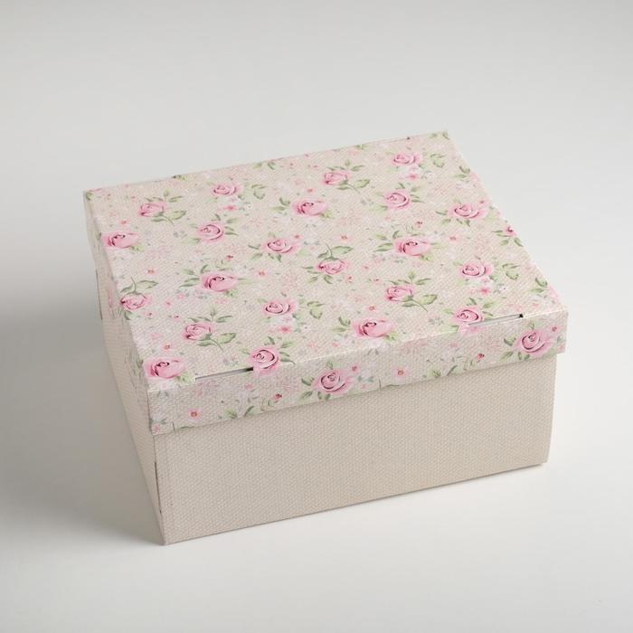 Складная коробка «Уютный шебби», 31,2 х 25,6 х 16,1 см - фото 1