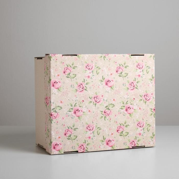 Складная коробка «Уютный шебби», 31,2 х 25,6 х 16,1 см - фото 2