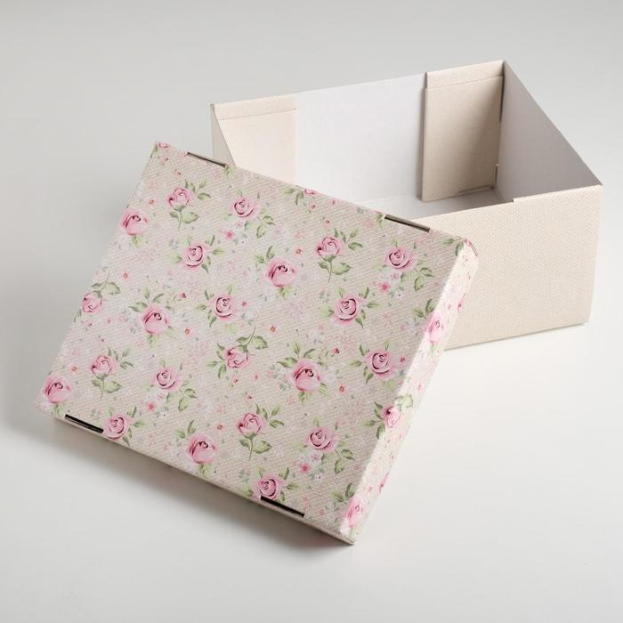 Складная коробка «Уютный шебби», 31,2 х 25,6 х 16,1 см - фото 3