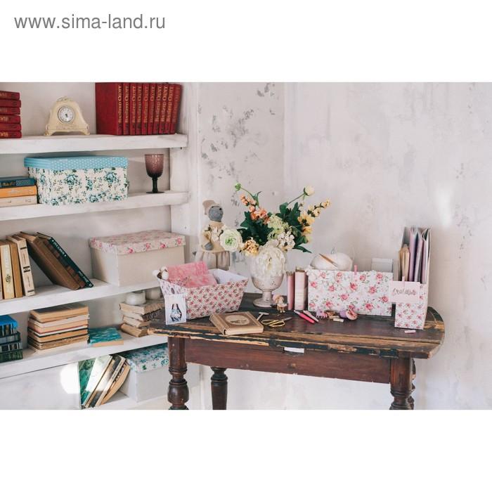 Складная коробка «Уютный шебби», 31,2 х 25,6 х 16,1 см - фото 4