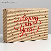 Коробка складная рифлёная «Новогодняя», 21 х 15 х 5 см