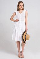 Женское летнее хлопковое белое платье Панда 30780z белый 42р.
