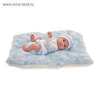 Кукла «Пепито» мальчик, на голубом одеялке, 21 см
