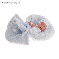 Кукла-младенец «Эдуардо» в голубом, 42 см